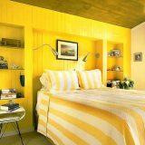 Идеи для спальни в желтом цвете