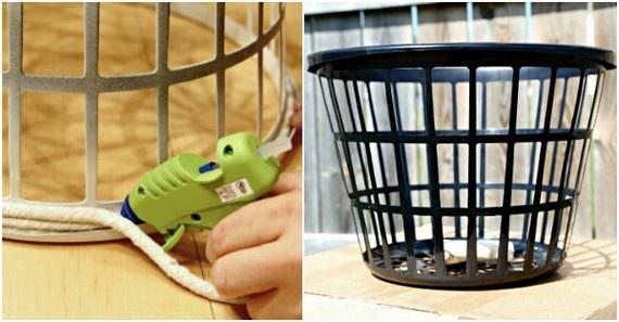 Как украсить копеечную корзину для белья из Fixprice