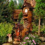 Сказочные эльфы в вашем саду: более 20 идей для домиков и дверей фейри, живущих внутри деревьев