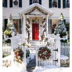 Дорогу празднику! Как украсить дачу, сад и дом снаружи на новый год — 33 идеи
