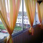 Текстиль в интерьере: Шторы на балконе